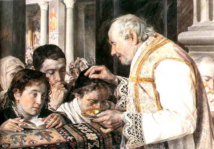 Julian Fałat, Mercoledì delle Ceneri (1881), acquerello
