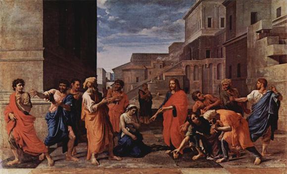 Jesus e l'adultera FRA_MuLouvre_N.Poussin_Ges%C3%B9%2BAdultera_1653