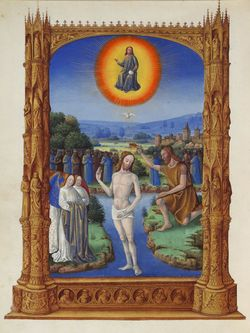 Folio 109v - The Baptism of Christ.jpg