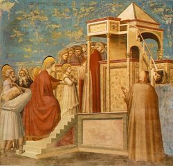 Giotto - Scrovegni - -08- - Presentation of the Virgin in the Temple.jpg