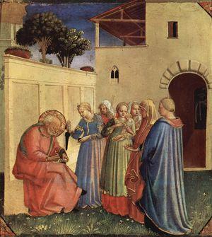 Beato Angelico, Imposizione del nome al battista