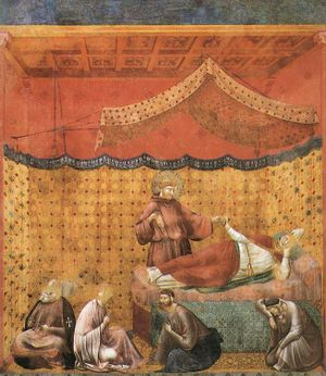 Giotto - Legend of St Francis - -25- - Dream of St Gregory.jpg